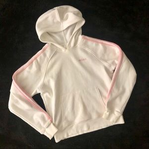 Adidas | white and pink hoodie